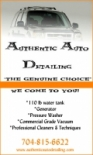 Authentic Auto Detailing The Genuine Choice