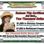 Grocery+%26+Restaurant+Savings+Certificate+DID%23+60697%2C+West+Columbia%2C+South+Carolina image