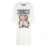 Moschino+Safety+Pin+Teddy+Women+Short+Sleeves+Short+Dress+White%2C+Toronto%2C+Ontario image