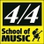 4/4 School of Music Icon