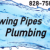 Flowing Pipes Plumbing Icon